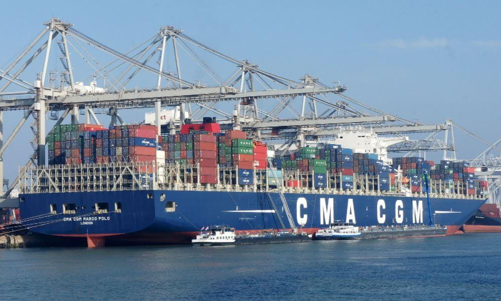 The CMA CGM Marco Polo is the largest container ship to ever call on U.S. East Coast ports